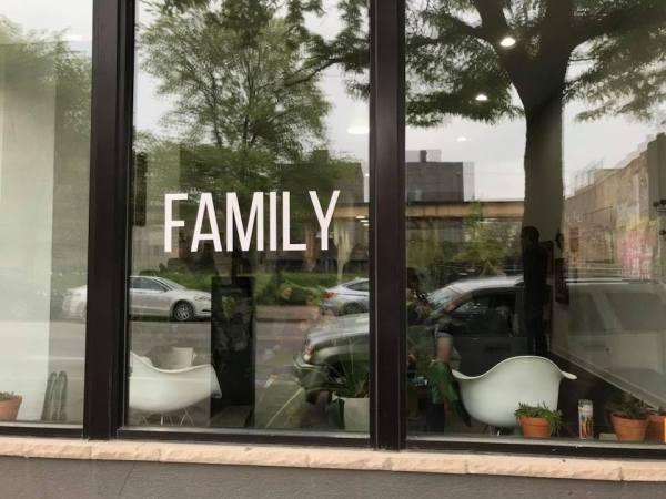 family art show window