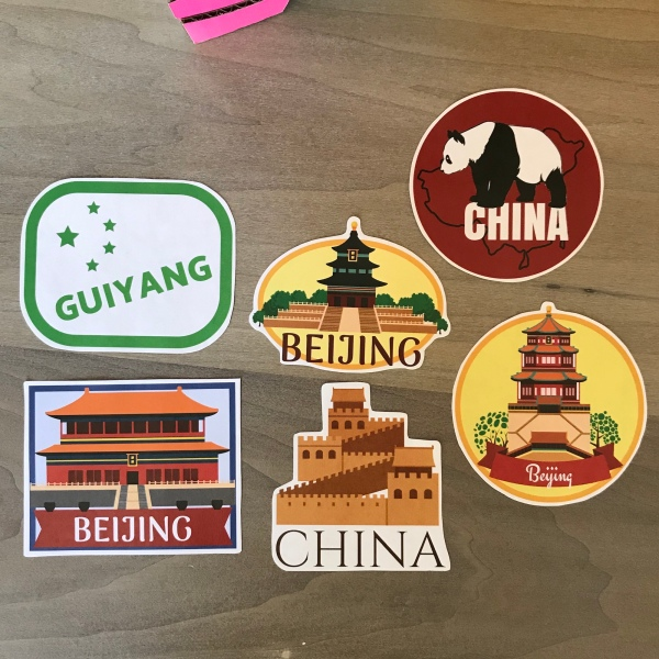 china suitcase stickers